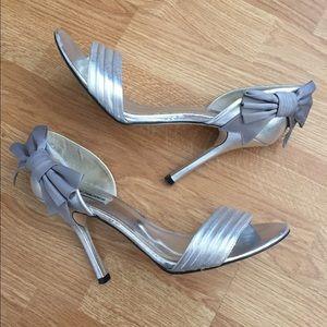 "Steve Madden 4"" Silver Heels - Like New"